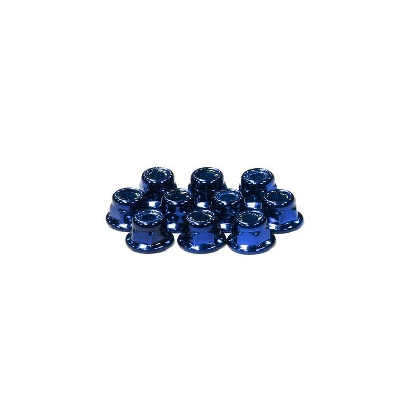 Ecrous frein alu Bleu M4 épaulés Integy