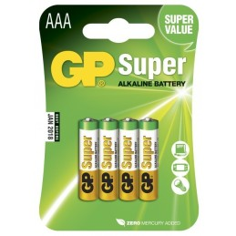 Piles GP Super Alcaline AAA-pile, 24A/LR03 (4)