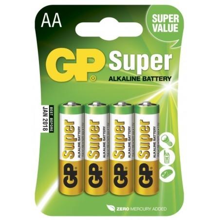 Piles GP Super Alcaline AA-pile, 15A/LR6 (4)