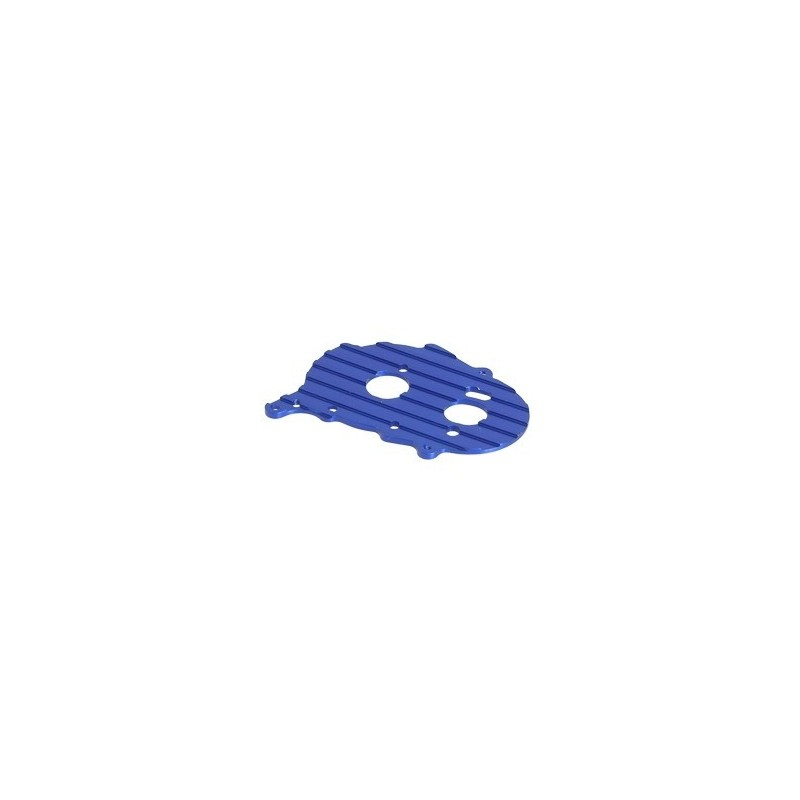 Support moteur alu bleu pour Losi MRC - 3Racing