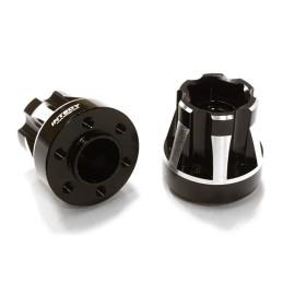 Hexagone de roue 12mm alu Noir epaisseur 22mm Integy (2)