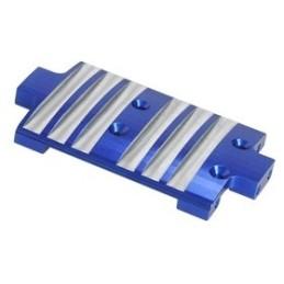 Skid alu bleu pour Losi MRC - 3Racing