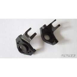 Pro aluminium fusées knuckles noir  pour SCX10-2  SSD