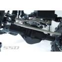 Liens Doubles Barres  titane  pour direction / panhard pour scx10 scx10-2 SSD