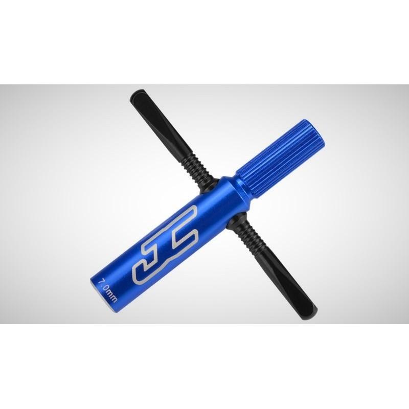 Clef de 7mm pour les roues  quick spin Alu Bleu Jconcept