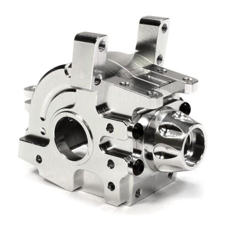 Boite cellule avant alu silver  Gearbox  Axial 1/10 Yeti Rock Racer Integy