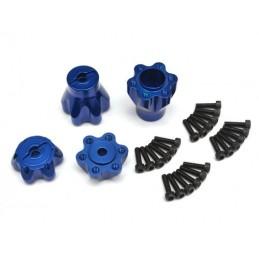 Hexagones adaptateurs alu Bleu pour Yéti Boomracing