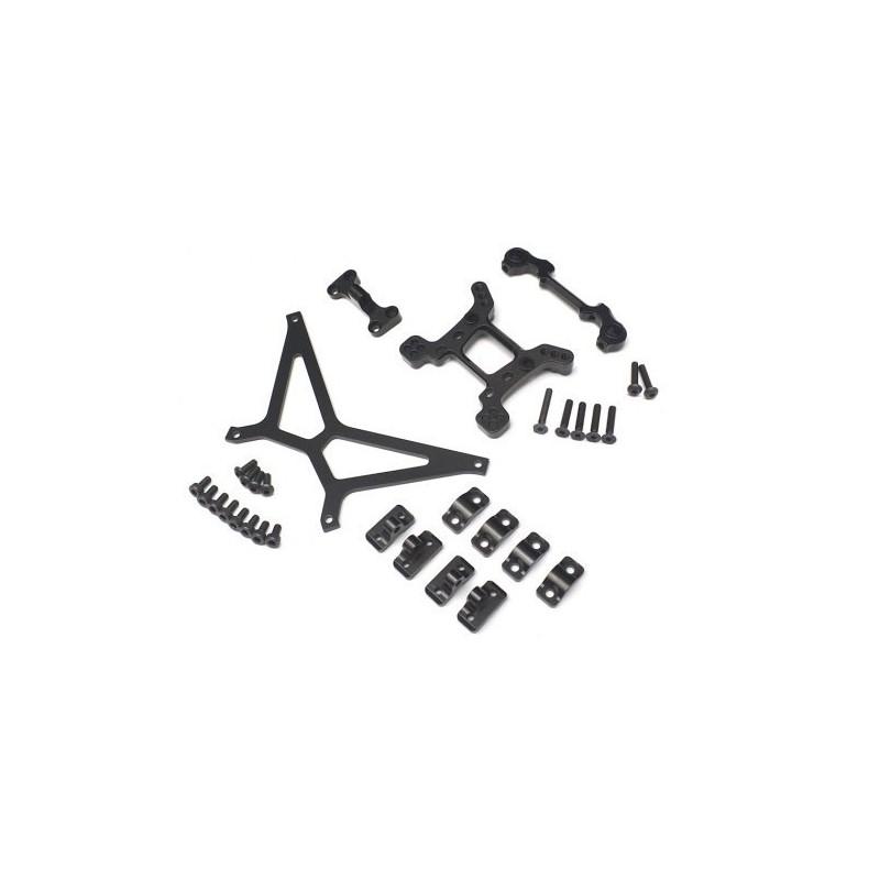 Set pièces Option alu N°5 Noir pour Yéti Boomracing