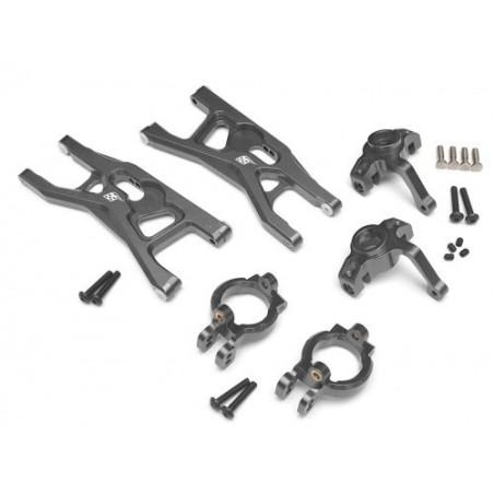 Set de pièces N°1 options alu Gun métal pour Yéti Boomracing