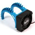 Ventilateur fan Tornado avec dissipateur alu bleu type B  Yeah Racing