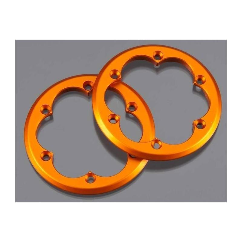 Anneaux alu orange  pour jantes beadlock XR10 Axial