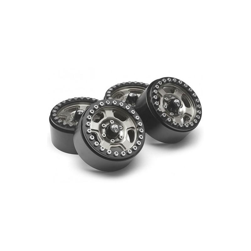 Jantes alu Krait™ 1.9 Golem Aluminum Gun Metal  Beadlock  BoomRacing (4)