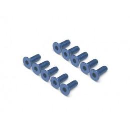 Vis aluminium 7075 M3 x 8 Bleu BoomRacing ( 10 )