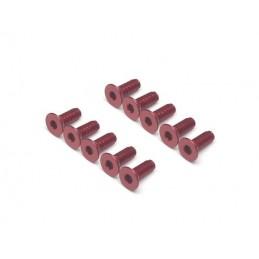 Vis aluminium 7075 M3 x 8 Rouge BoomRacing ( 10 )