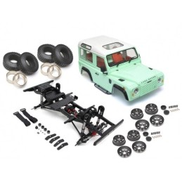 Chassis assemblé 1/10 ARTR Defender D90 Two-Door avec carrosserie ABS TRC Raffee