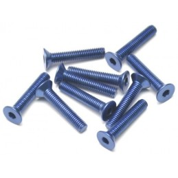 Vis aluminium 7075 M3 x 14 Bleu BoomRacing ( 10 )