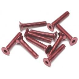 Vis aluminium 7075 M3 x16 Rouge BoomRacing ( 10 )