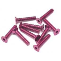 Vis aluminium 7075 M3 x14 Purple violet BoomRacing ( 10 )