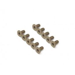 Vis aluminium 7075 M3 x6 Titane BoomRacing ( 10 )