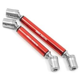 Cardans renforcés métal rouge pour TRX4 Yeah Racing
