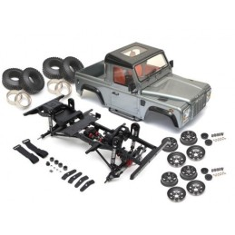 Chassis 1/10e D90 ARTR assemblé avec carrosserie pick up Team Raffee