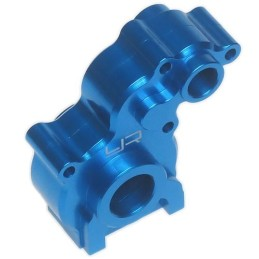 Carter boite alu bleu pour Axial SCX10 par Yeah Racing