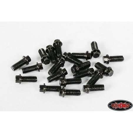 Vis de roue Noire  miniature Beadlock scale M2.5 x 6mm  RC4WD ( 20 )