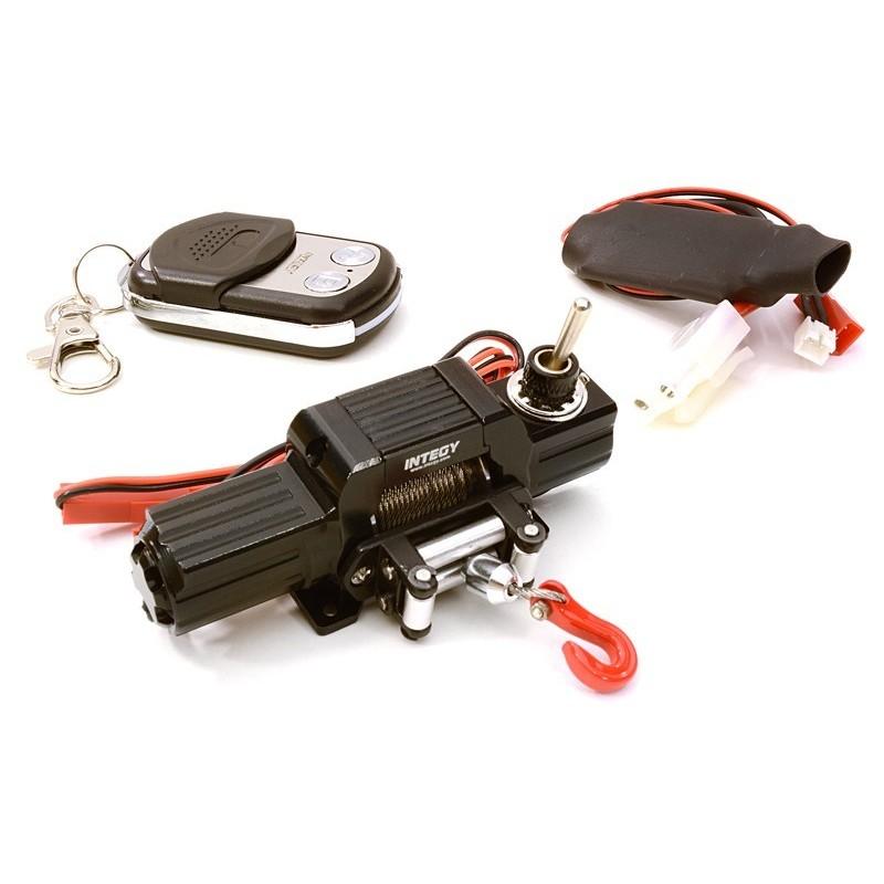 Treuil avec télécommande Noir Méga Réalistic T8 scale crawler 1/10e Integy