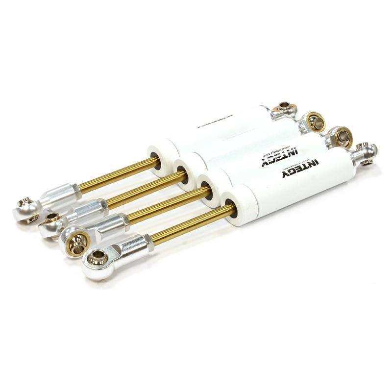 Amortisseurs métal Blanc scale off road L105mm Integy