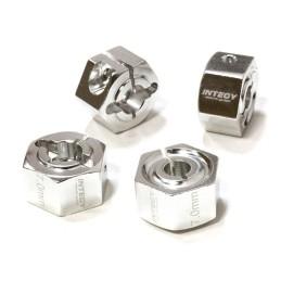 Hexagones de roues 12mm en alu Silver  épaisseur 7mm Integy