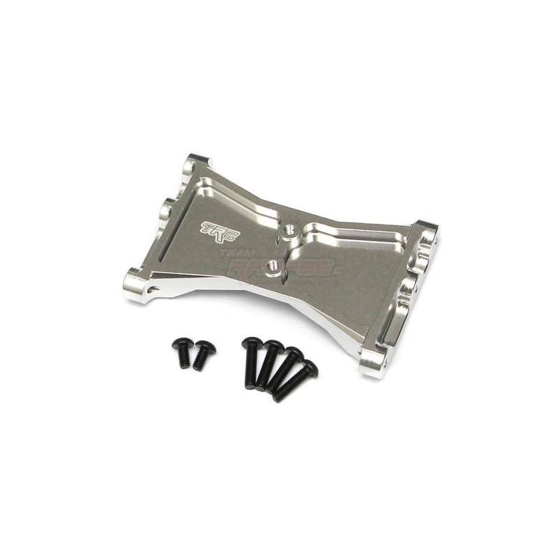 Renfort de chassis arrière alu Silver  pour TRX-4 Team Raffee