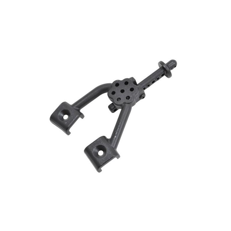 Supports amortisseurs avants  plastiques noirs pour SCX10 RPM 70642