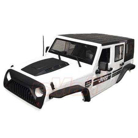 Carrosserie Jeep plastique Blanc 313mm vers.2  Xtra speed