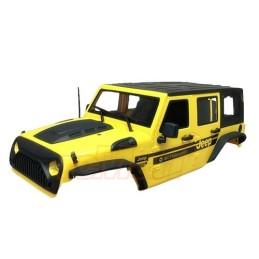 Carrosserie Jeep plastique Jaune 313mm vers.2  Xtra speed