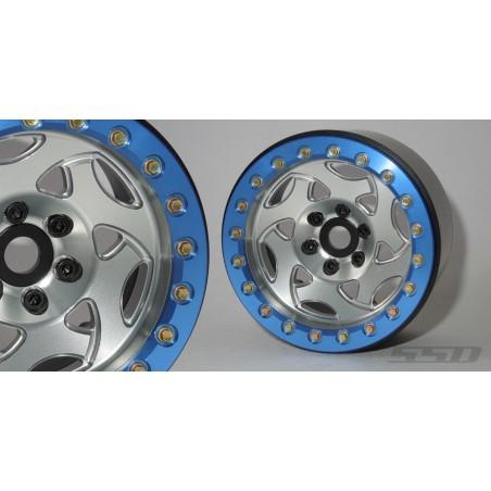 Jantes alu 2.2 Champion  Silver / bleu   SSD