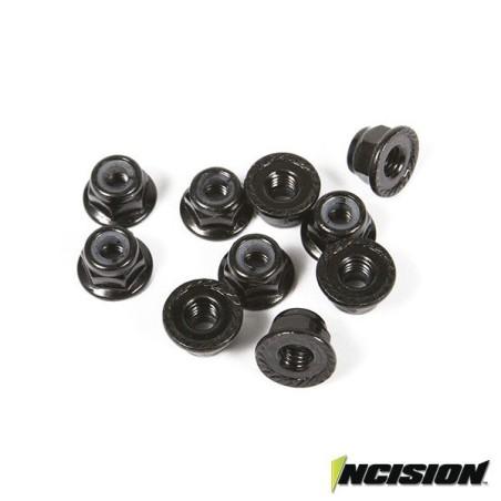 Ecrous freins 4mm Noirs Incision Vanquish (10)