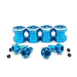 Hexagones élargisseurs 15mm alu Bleu Yeah Racing