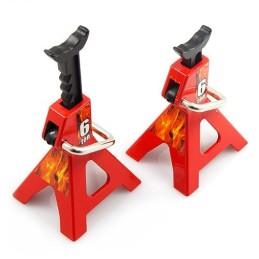 Chandelles 6T réglables métal rouges Yeah Racing