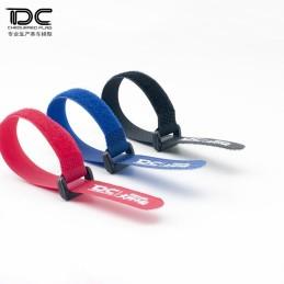 Velcro de fixation accus Rouge avec logo Team DC