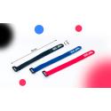 Velcro de fixation accus Bleu avec logo Team DC