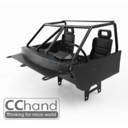 Arceau cage cabine  métal noir avec intérieur TF2 Trail Finder  CChand