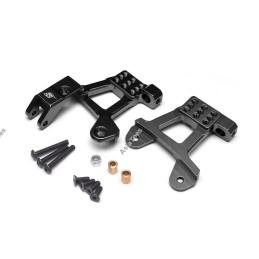Supports amortisseurs avants  aluminium Noir pour scx10-II BoomRacing