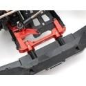 Renfort de chassis avant alu noir pour SCX10-II  BoomRacing