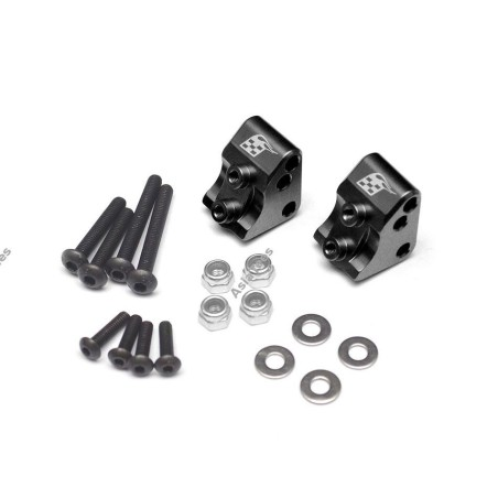 Support de liens  alu noir pour SCX10-II  BoomRacing