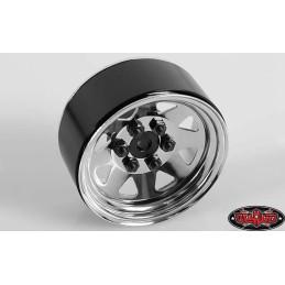 Jantes métal chrome 6 Lug Wagon Steel Stamped Beadlock RC4WD