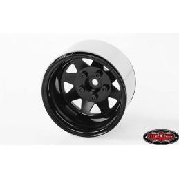 """Jantes métal noires 5 Lug Deep Dish Wagon 1.9"""" Stamped Beadlock RC4WD"""