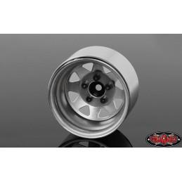 """Jantes métal gris 5 Lug Deep Dish Wagon 1.9""""  Stamped Beadlock RC4WD"""