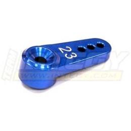 Palonnier alu 23T Bleu pour servo KO/JR -Integy