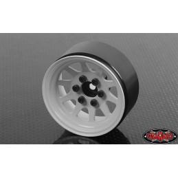 "Jante métal Blanche OEM Stamped Steel 1.9"" Single Beadlock RC4WD (1)"