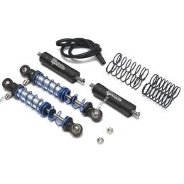 Amortisseur aluminium  Noir 90mm Piggyback Adjustable double ressort Team Raffee